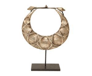 Figura de collar de aleación de metales con plata con base Étnico