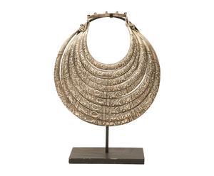 Figura de collar de aleación de metales con plata con base Étnico I