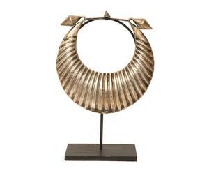 Figura de collar de aleación de metales con plata con base Étnico II