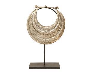 Figura de collar de aleación de metales con plata con base Étnico III