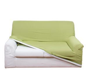 Funda sofá Bielástic de 2 plazas, verde – 130 a 185