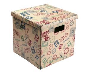 Caja plegable en polipiel Sellos