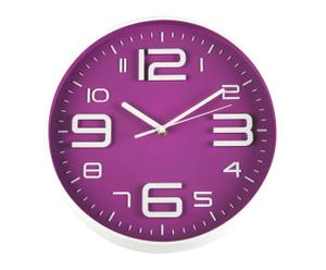 Reloj de pared en plástico - morado