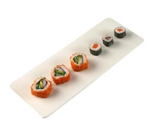 Bandeja para sushi en porcelana blanca – grande