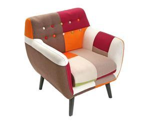 Sofá individual tapizado en algodón Liam