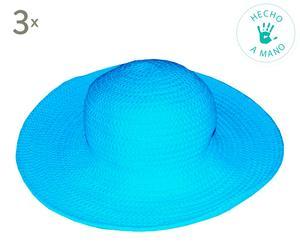 Sombrero de fibra – turquesa
