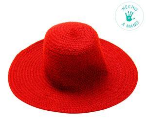 Sombrero de fibra – rojo