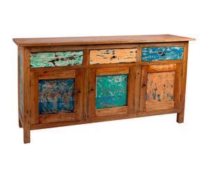 Aparador de madera de mahogani - multicolor