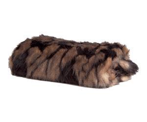 Manta de pelo acrílico – marrón y negro
