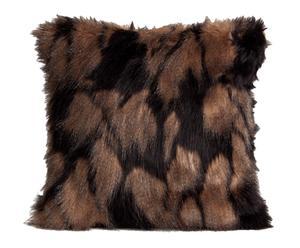 Cojín de pelo acrílico – marrón y negro