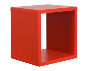 Estante de contrachapado Cubo – rojo