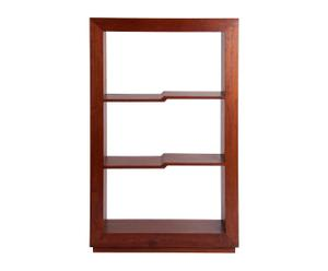 Estantería de madera con 3 estantes – marrón