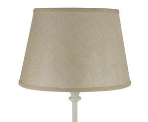Lámpara de sobremesa de base oval con pantalla en chintz – crema y arena