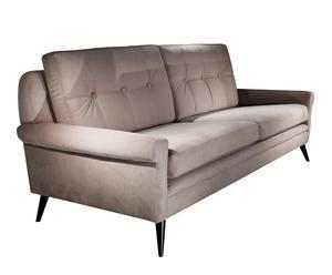 Sofá tapizado en poliéster CENTURY, chocolate - 230cm