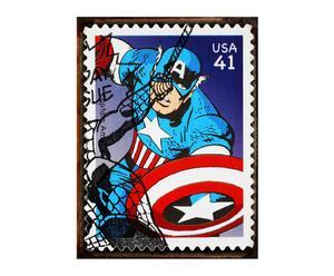 Chapa de hierro Captain America VIII - 30x25 cm