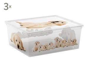 Set de 3 cajas de almacenaje Puppies - M