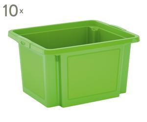 Set de 10 cajas de almacenaje – verde