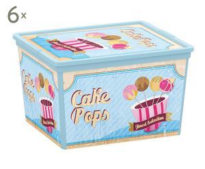 Set de 6 cajas de almacenamiento Vintage Sweet -cube