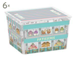Set de 6 cajas de almacenamiento Boutiques - cube