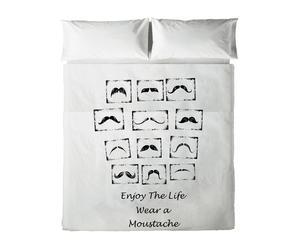 Juego de sábanas Moustache para cama de 90 cm II - 2 piezas