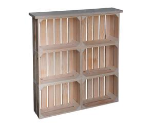 Mueble recibidor madera de pino