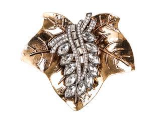 Broche en forma de flor con pequeños cristales – dorado