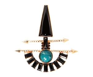 Broche en forma de flecha Arrow - azul