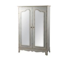 Armario de metal y espejo Tresor – blanco