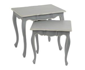 Set de 2 mesas nido en DM New Elegance - gris