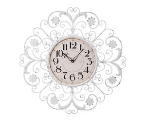 Reloj de pared de metal – blanco y beige
