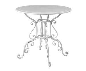 Mesa de comedor en metal - blanco
