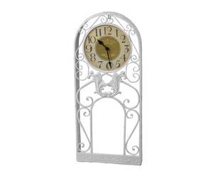 Reloj de sobremesa en metal - blanco