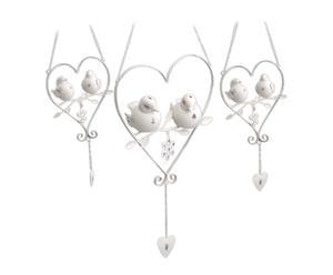 Set de 3 decoraciones para colgar Pájaros