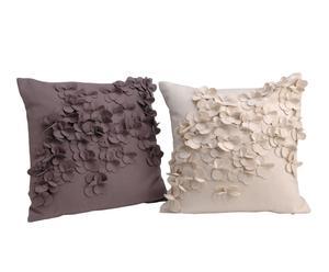 Set de 2 cojines de lana y viscosa - 40x40 cm