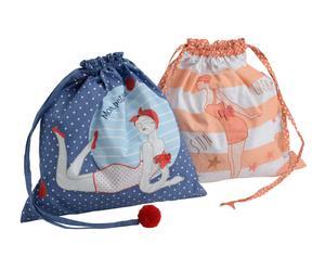 Set de 2 bolsas de algodón Bañador