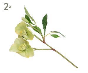 Set de 2 flores de pascua artificiales