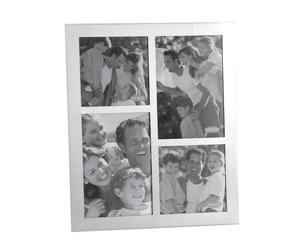 Marco de fotos múltiple de aluminio y vidrio - blanco