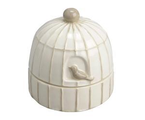 Cenicero de cerámica dolomita - blanco y gris