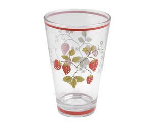 Vaso alto de vidrio Fresas