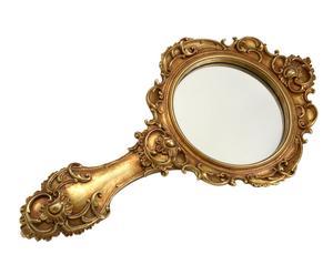 Espejo de pared con marco de poliresina Inés - dorado