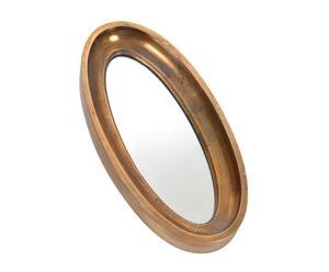 Espejo con marco de metal Moulding - dorado