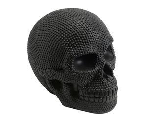Calavera decorativa en resina - negro