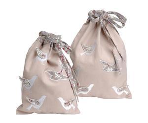 Set de 2 bolsas de algodón para ropa interior Jolie