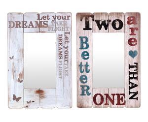 Set de 2 espejos de pared en madera DM Oriana
