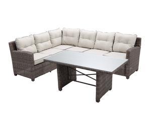 Set 2 sofás rinconeros y mesa de centro Maldivas