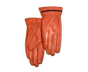 Set de 2 guantes de piel, naranja – talla S