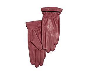 Set de 2 guantes de piel, burdeos – talla S