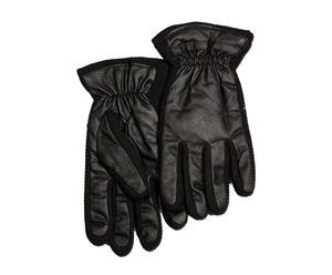 Set de 2 guantes de hombre en polipiel y lana, negro – talla M