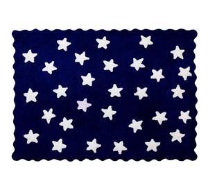 Alfombra en algodón 100% Edén, azul marino – 120x160cm