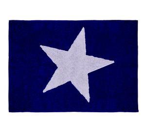 Alfombra en algodón 100% Estela, azul marino– 120x160cm